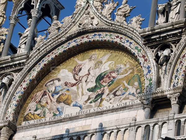 Venice - The basilica St Mark's. Mosaic from upper facade Stock photo © wjarek