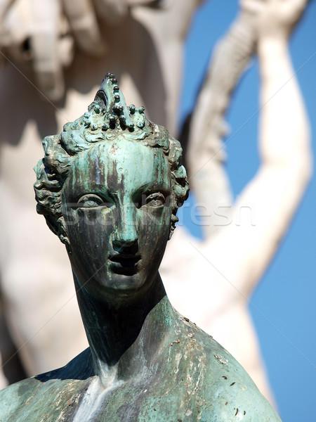 Fountain of Neptun in the Piazza della Signoria, Florence Stock photo © wjarek