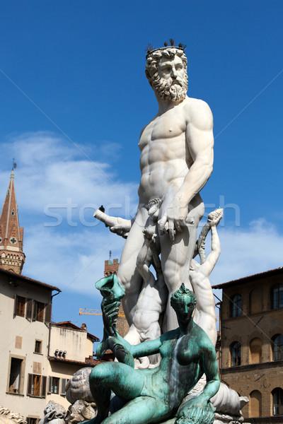 Florence - Statue of Neptune Stock photo © wjarek