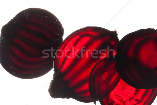 Szeletel nyers víz étel háttér piros Stock fotó © wjarek
