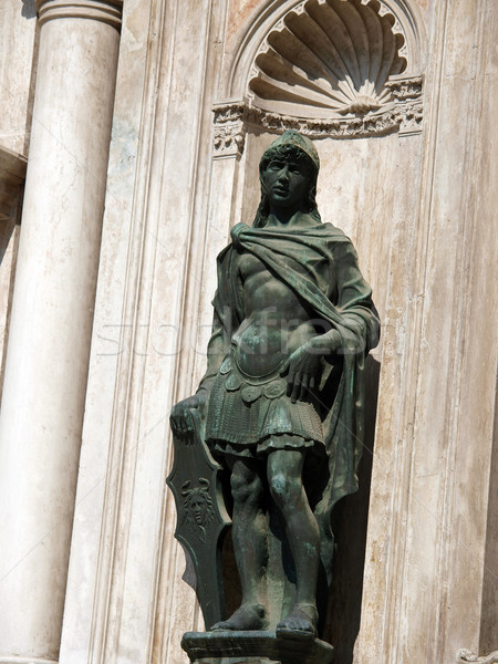 Venice - wonderful sculpture of bronze in the courtyard of the Palace of Doges Stock photo © wjarek