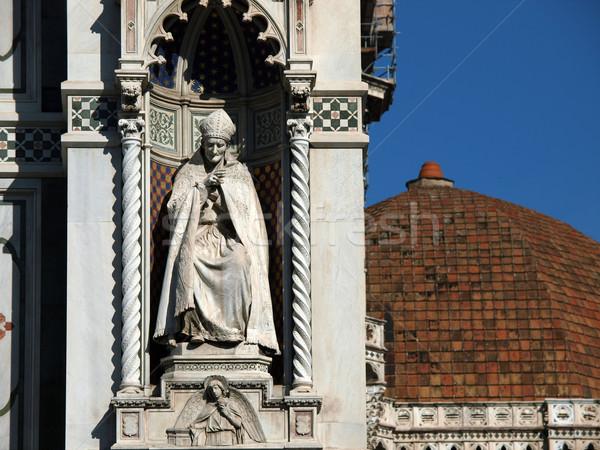 Florence - Reachness of details on the facade Duomo Stock photo © wjarek