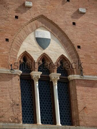 Beautiful ancient windows - Tuscany, Italy Stock photo © wjarek