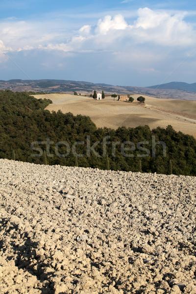 Cappella di Vitaleta , Val d'Orcia in Tuscany Stock photo © wjarek