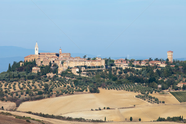 The medieval town of Pienza Stock photo © wjarek