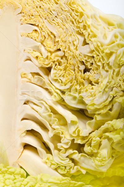 Stockfoto: Vers · kool · geïsoleerd · witte · voedsel · blad