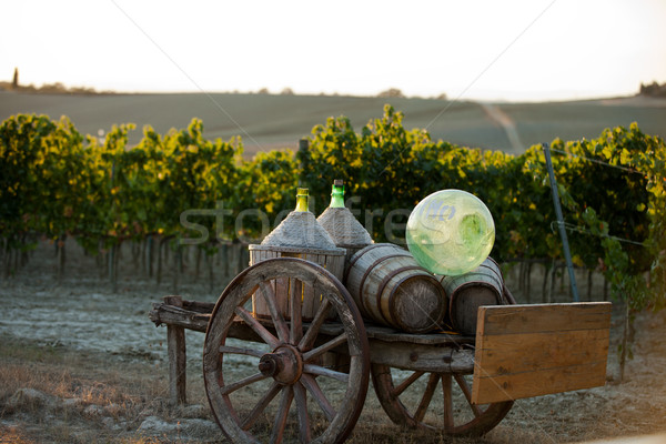 A cart loaded with wine bottles Stock photo © wjarek