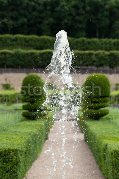 Gardens and Chateau de Villandry  in  Loire Valley in France  Stock photo © wjarek