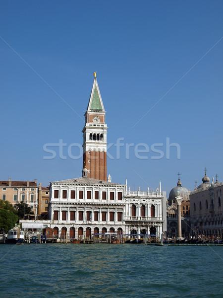 Venetië toren hemel gebouw eiland vakantie Stockfoto © wjarek