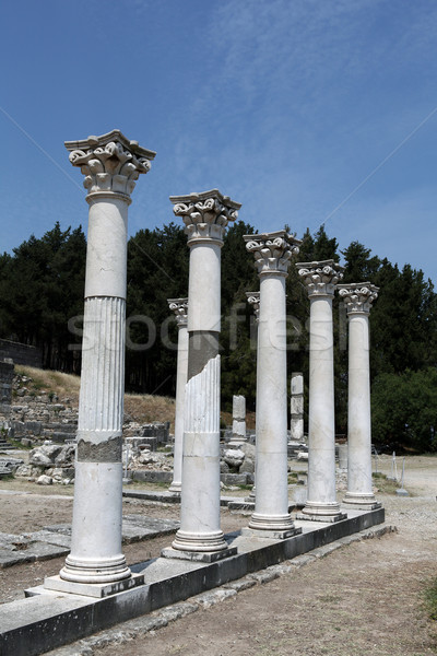 Asklepion place on the island of Kos where Hippocrates has built one of the first hospitals in the E Stock photo © wjarek
