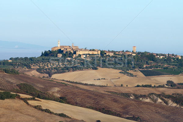 view of Pienza, just after sunrise.  Stock photo © wjarek