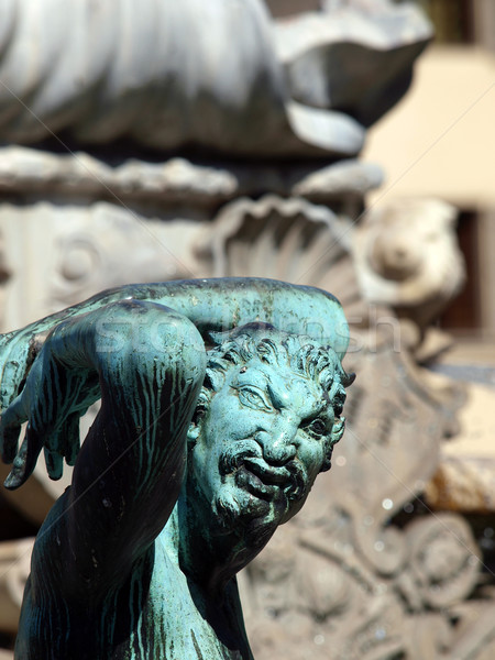 Fountain of Neptune, Florence, Italy Stock photo © wjarek