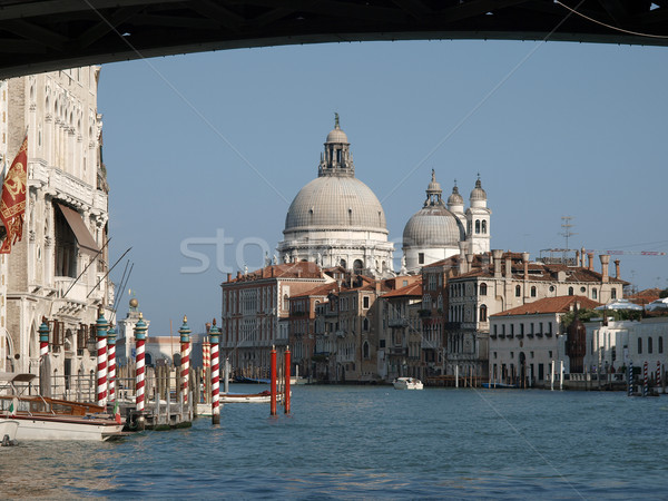 Venice - View of Salute from under Ponte dell'Accademia Stock photo © wjarek