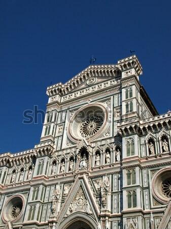 Florence bazilika mikulás terv művészet építészet Stock fotó © wjarek
