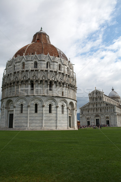Pisa - Baptistry of St. John in the Piazza dei Miracoli Stock photo © wjarek