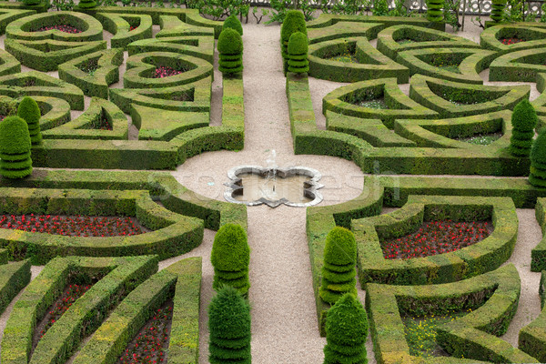 Splendid, decorative gardens at castles in France Stock photo © wjarek