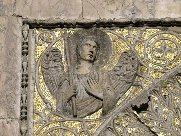 Velence bazilika porta kereszt építészet gótikus Stock fotó © wjarek