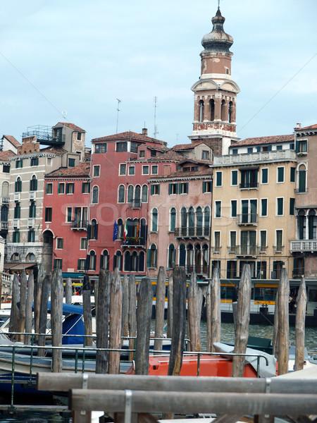 Venice - Exquisite antique buildings along Canal Grand Stock photo © wjarek
