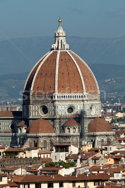 Cathedral of Florence Italy, View from the Michelangelo's Piazza  Stock photo © wjarek