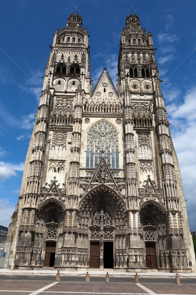 Gothic cathedral of Saint Gatien in Tours, Loire Valley  France Stock photo © wjarek