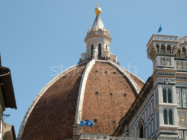 Huge dome of the Santa Maria Del Fiore cathedral in florence  Stock photo © wjarek