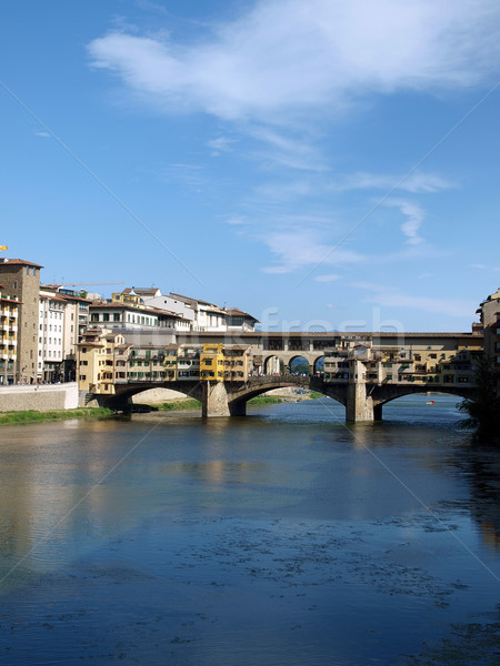 The Ponte Vecchio /Old Bridge/ is a Medieval bridge over the Arno River, in Florence, Italy Stock photo © wjarek