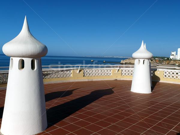 Fairy Chimneys on the terrace Stock photo © wjarek
