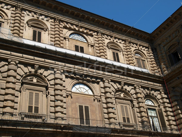 Palazzo Pitti one of the most famous palaces in Florence Stock photo © wjarek