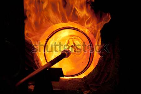Glass blowing process  Stock photo © wjarek