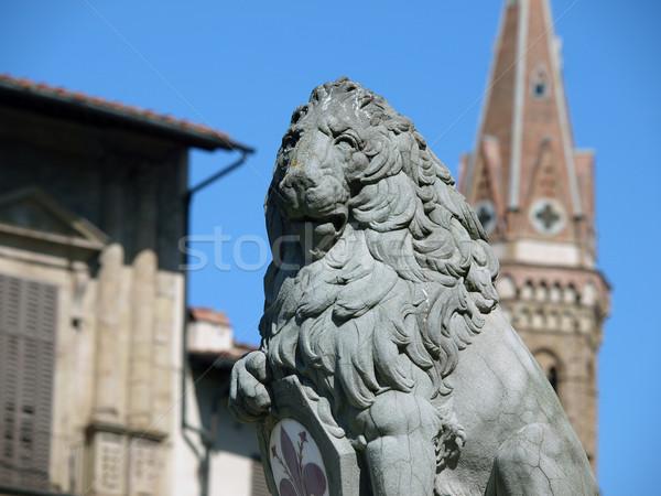 Florence - Lion Marzocco Stock photo © wjarek