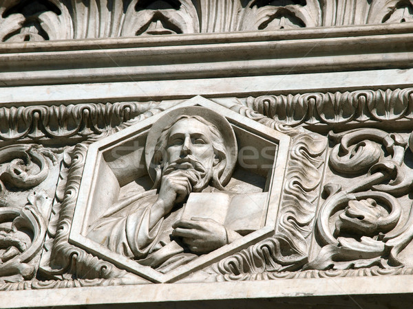 Florence - elaborate decorations of the portal on the Duomo facade Stock photo © wjarek