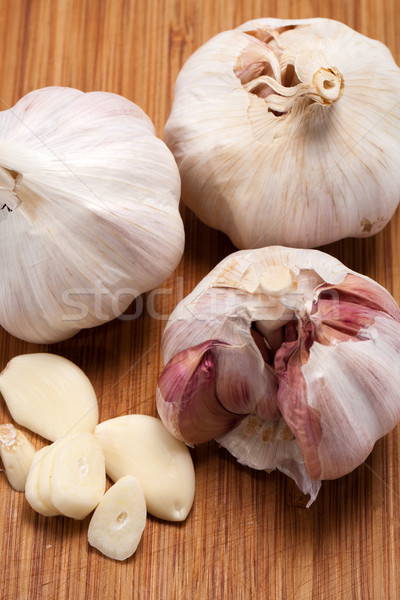 Garlic on the wooden table  Stock photo © wjarek
