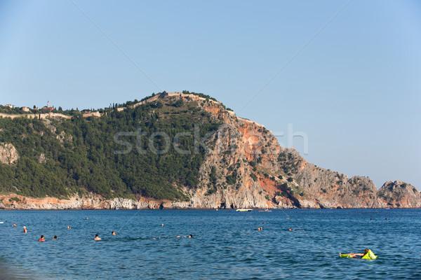 Zdjęcia stock: Zamek · skał · plaży · Turcja · charakter · krajobraz