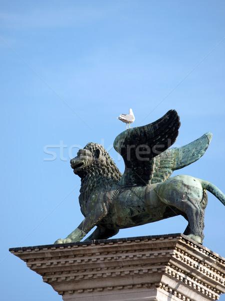 Chimera Sculpture on the Piazetta - Venice Stock photo © wjarek
