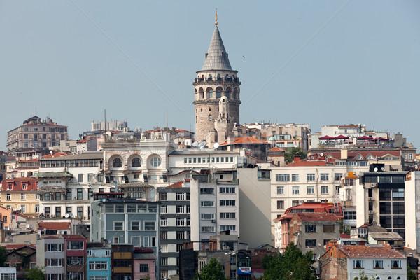 Torre quartiere Istanbul Turchia acqua costruzione Foto d'archivio © wjarek