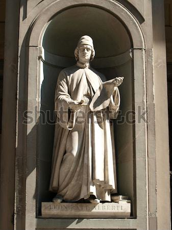 Donatello in the Niches of the Uffizi Colonnade, Florence Stock photo © wjarek
