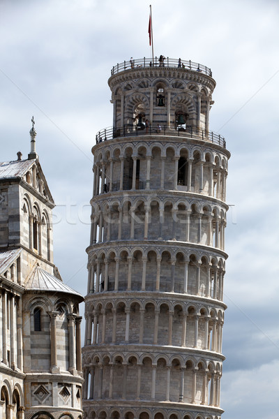 Pisa - Leaning Tower and Duomo in the Piazza dei Miracoli Stock photo © wjarek