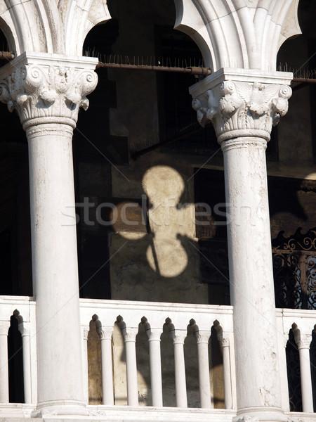 Venice - tracery from the Doge's Palace, one of venice symbol Stock photo © wjarek