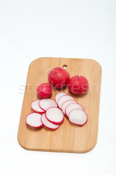 Garden radish on wooden board  Stock photo © wjarek