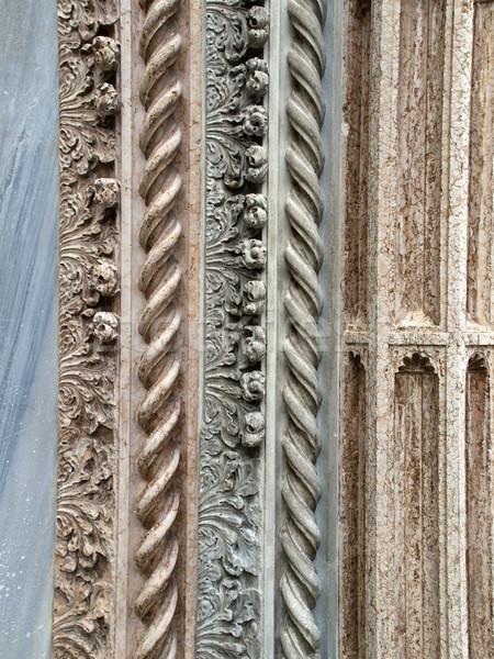 Detail from the church of the Santa Maria Gloriosa dei Frari Stock photo © wjarek