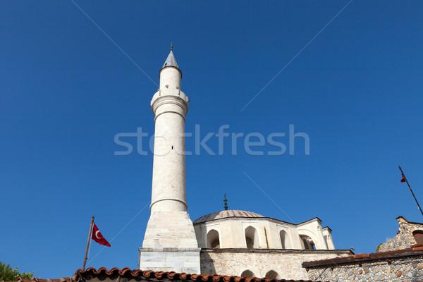 Minare cami Bina gün batımı manzara arka plan Stok fotoğraf © wjarek