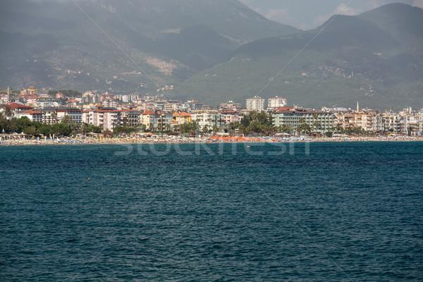 Strand een populair Turkije zon Stockfoto © wjarek