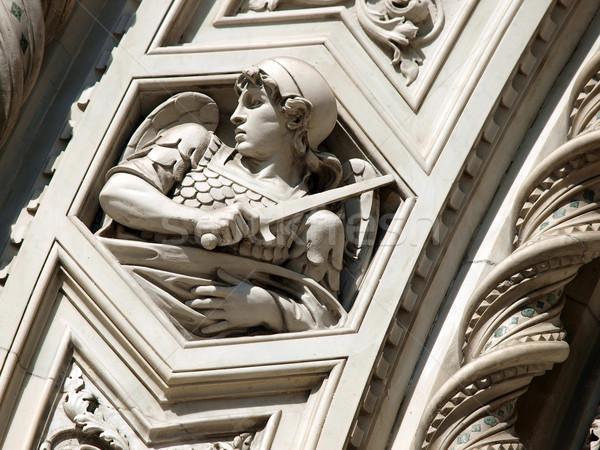 Florence díszítések porta homlokzat fal művészet Stock fotó © wjarek
