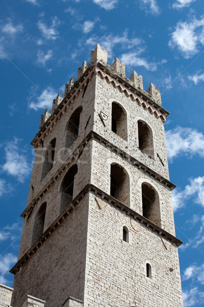 The tower of the Temple of Minerva in Assisi Stock photo © wjarek