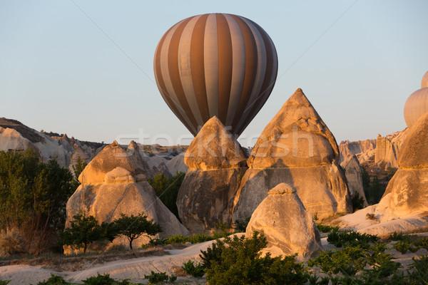 Grootst toeristische attractie vlucht ballon zonsopgang liefde Stockfoto © wjarek
