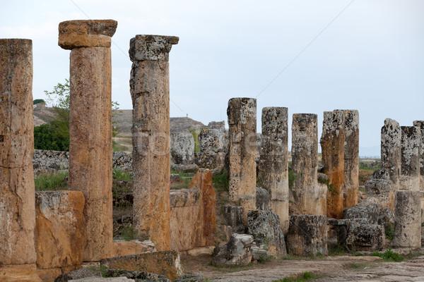 Ruines oude stad voorjaar spa gebroken Stockfoto © wjarek
