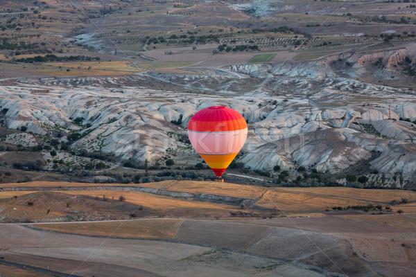 Hot Air Baloon over Cappadocia at sunrise. Turkey Stock photo © wjarek