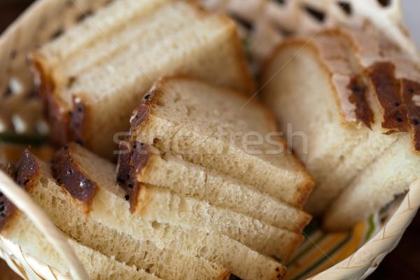 Brood voedsel diner ontbijt gebroken Stockfoto © wjarek