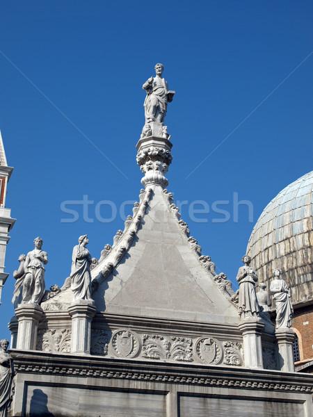 Venedik saray duvar tuğla heykel Gotik Stok fotoğraf © wjarek
