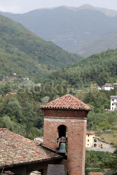 Középkori város Toszkána templom építészet Európa Stock fotó © wjarek